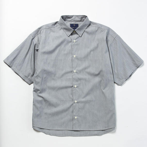 Pinstripe Popper S.S. Shirt/CHARCOAL