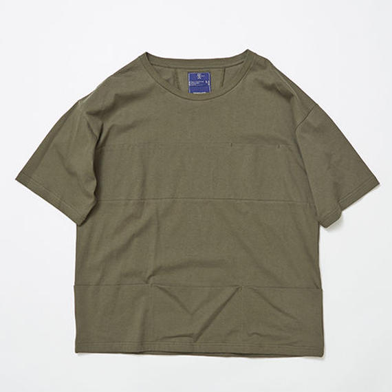 Single Jersey Packable Pocket Tee/KHAKI