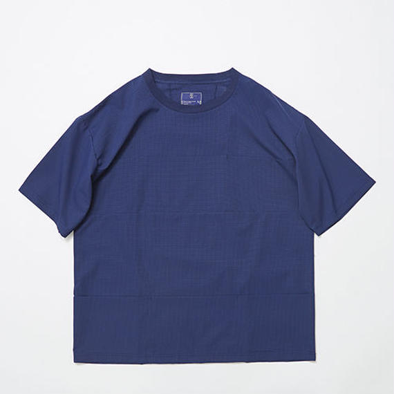 Water-repellent Dot Mesh Packable Pocket Tee/NAVY