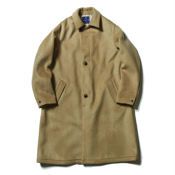 Double Melton Over Coat/KHAKI