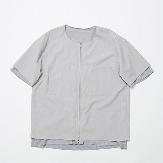 Water-repellent/Mesh Reversible 4Way S.S SH/GREY