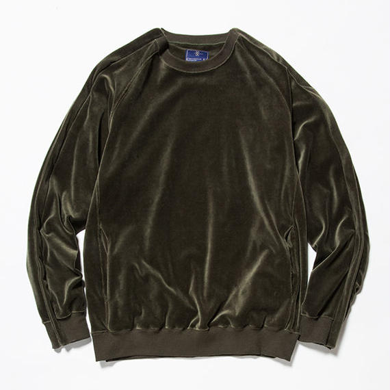 Velour Popper Sweat/KHAKI