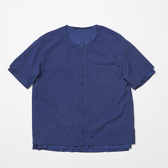 Water-repellent/Mesh Reversible 4Way S.S SH/NAVY