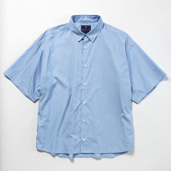 Pinstripe Popper S.S. Shirt/BLUE