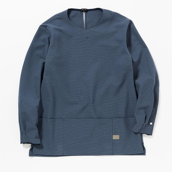 Cotton Birds Eye Pullover SH/NAVY