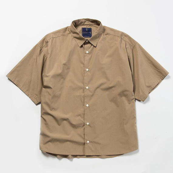 Typewriter Popper S.S. Shirt/BEIGE