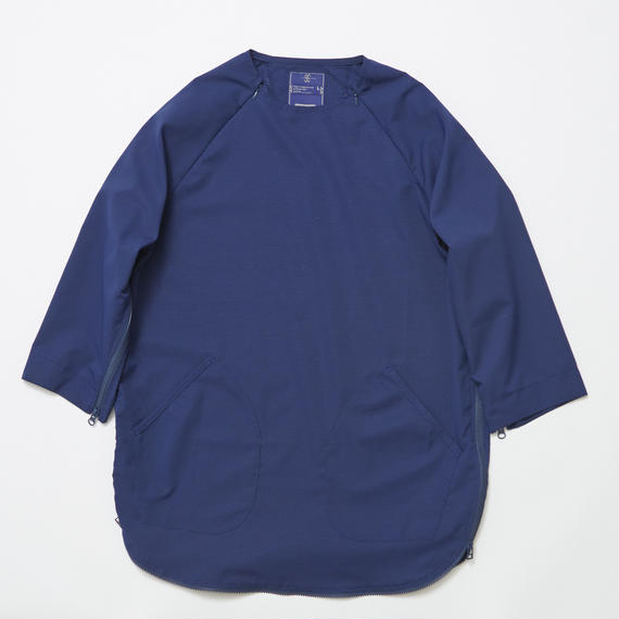 Water-repellent Dot Mesh Loop Zip Sweatshirt/NAVY