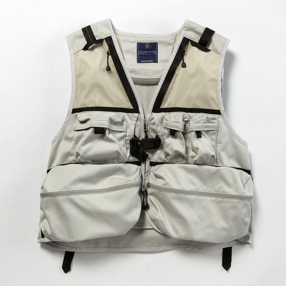 Work Twill Luggage Vest/LIGHT GREY