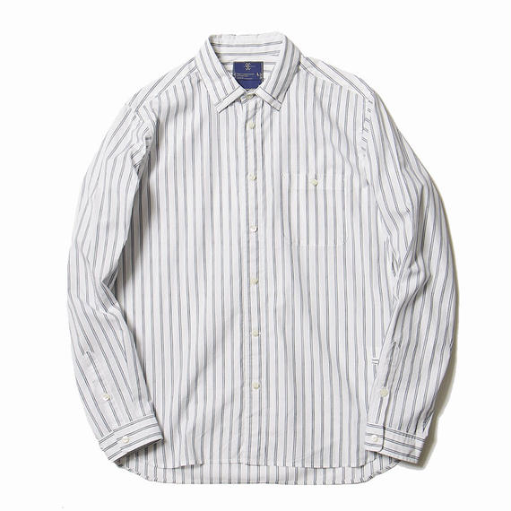 Argane Oil Cotton Stripe Loop Down SH/WHITE×NAVY