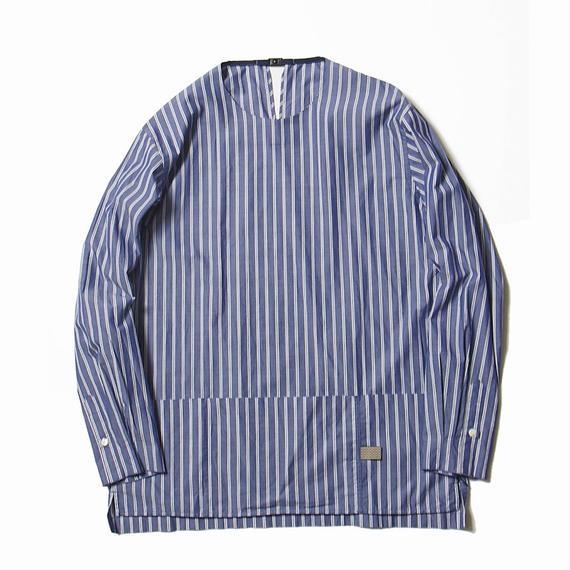 Argane Oil Cotton Stripe Pullover SH/NAVY×WHITE