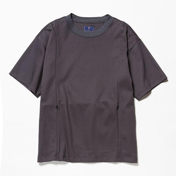 GIZA Cotton Sack Tee/CHARCOAL