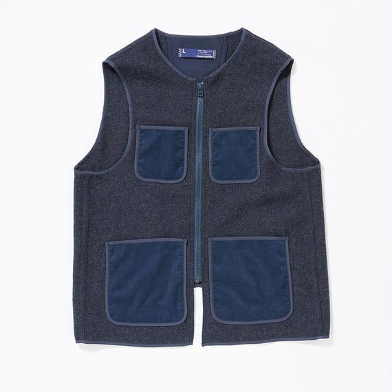 Wool Tweed Liner Vest/NAVY