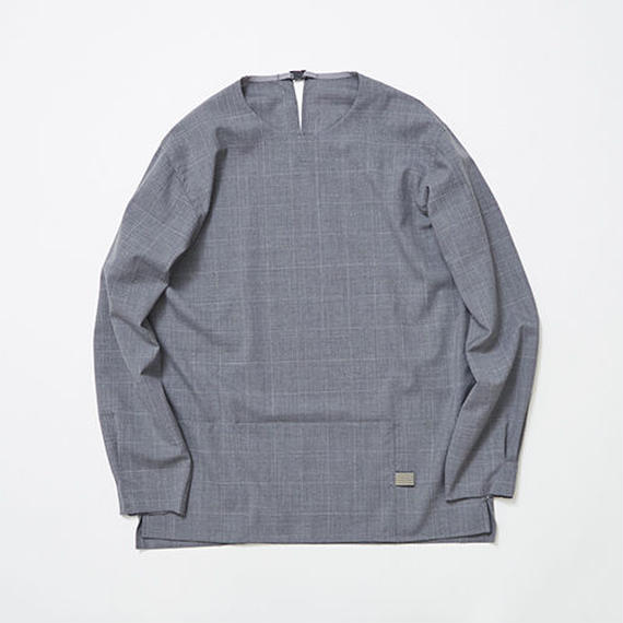 Cordura Wool Stretch Window-pen Pullover SH/GREY