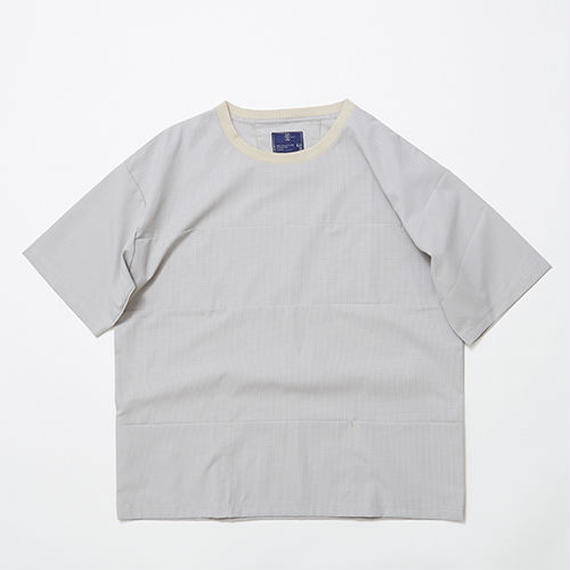 Water-repellent Dot Mesh Packable Pocket Tee/GREY
