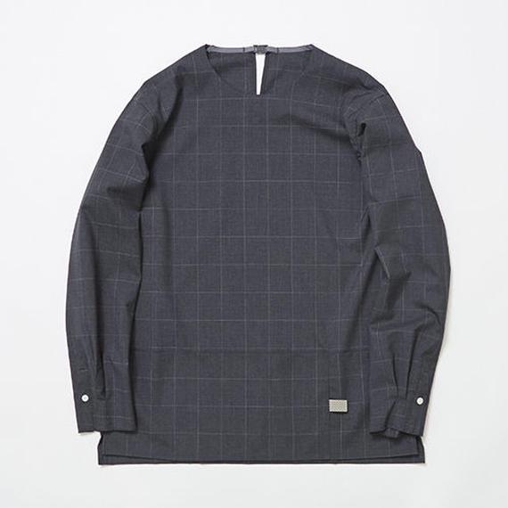 Cordura Wool Stretch Window-pen Pullover SH/CHARCOAL