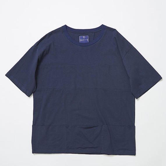Single Jersey Packable Pocket Tee/NAVY