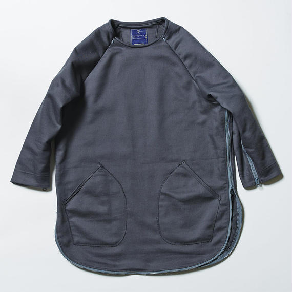 Loop Zip Sweatshirt/CHARCOAL