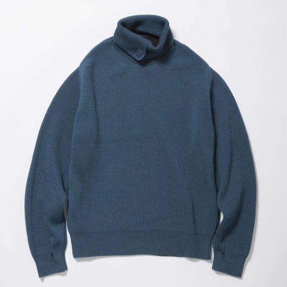 Open Collar Turtleneck Sweater/SKY