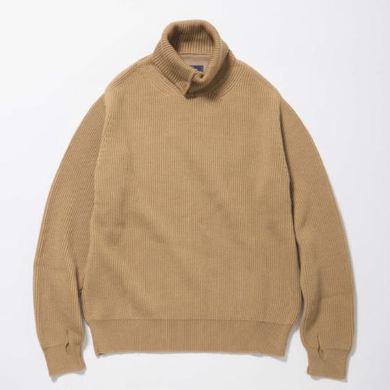 Open Collar Turtleneck Sweater/OCHER