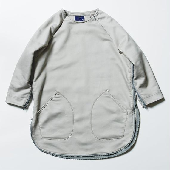 Loop Zip Sweatshirt/GRAY