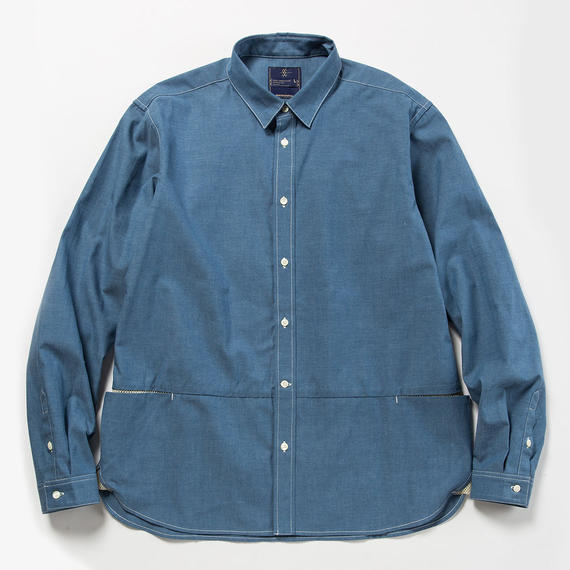 Packable Chambray Fishing SH/BLUE