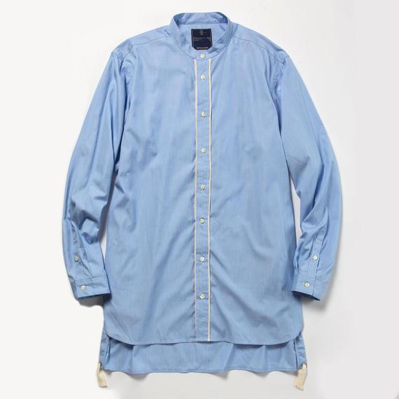 Pinstripe Long Shirt/BLUE