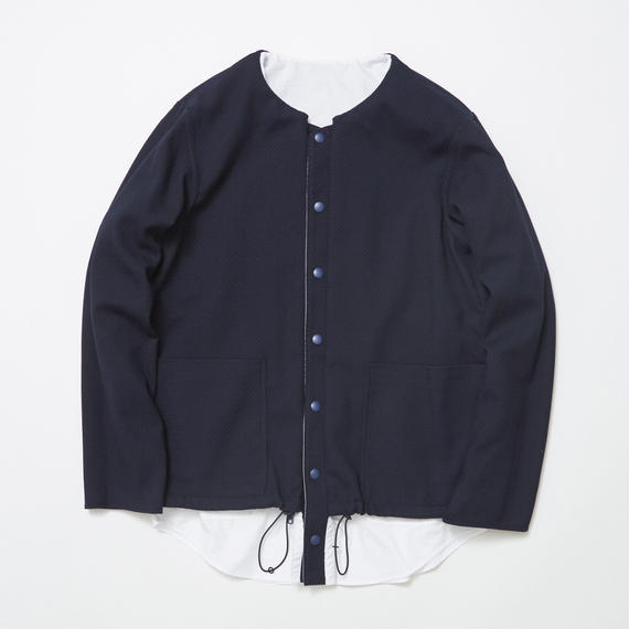 Cordura Wool/Typewriter Reversible 4Way Shirts JKT/NAVY×WHITE