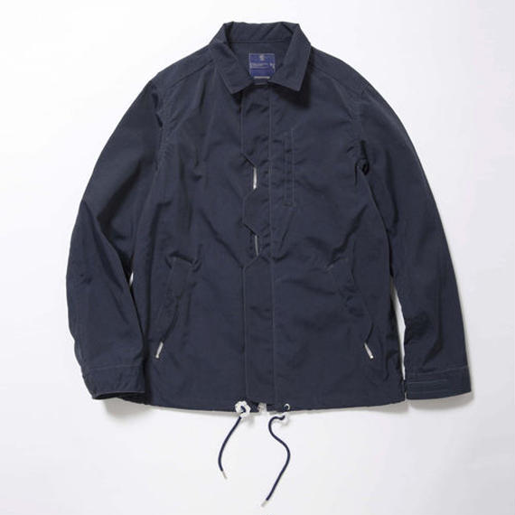 Blackboard Cloth Odd Job Flap Coach Jacket/ DEEP SEA