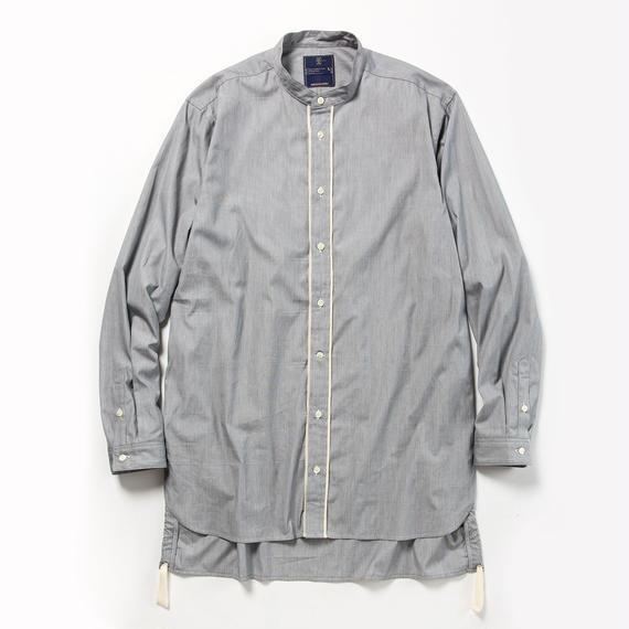 Pinstripe Long Shirt/CHARCOAL