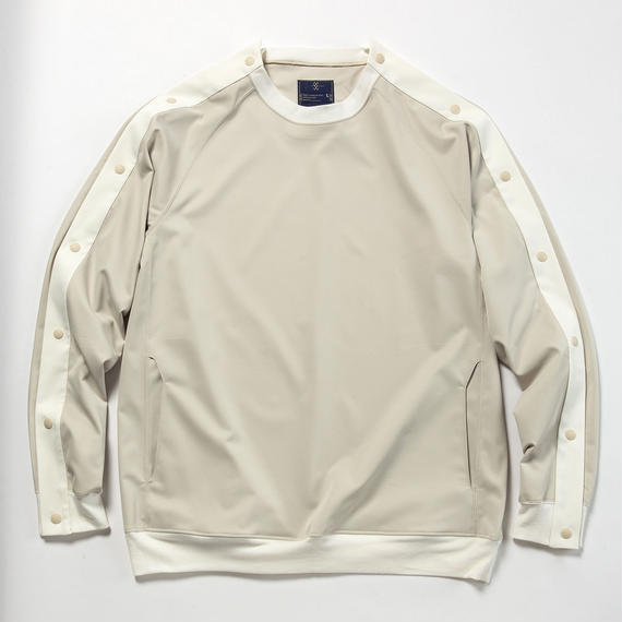 Elastic Twill Popper Sweat/ASH BEIGE