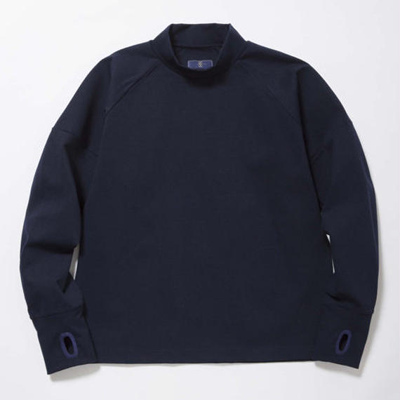 Double Jersey High-Necked /MIDNIGHT