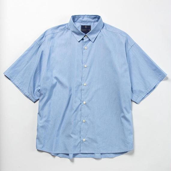 Pinstripe Popper S.S. Shirt/BLUE