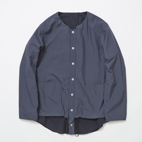 Water-repellent/Coolmax Reversible 4Way Shirts JKT/STEEL×NAVY