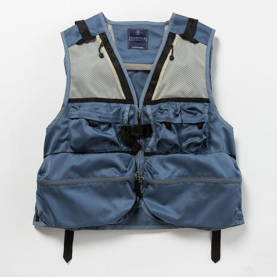 Work Twill Luggage Vest/BLUE
