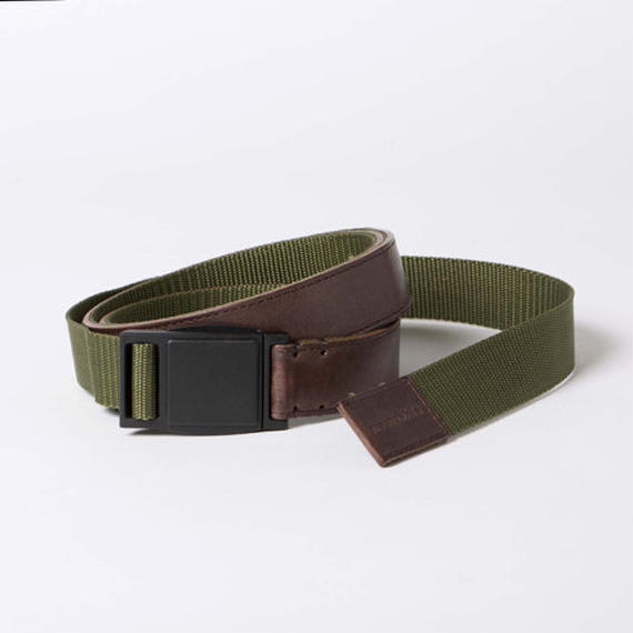 Leather and Nylon Quick Release Belt/WOODxMIL