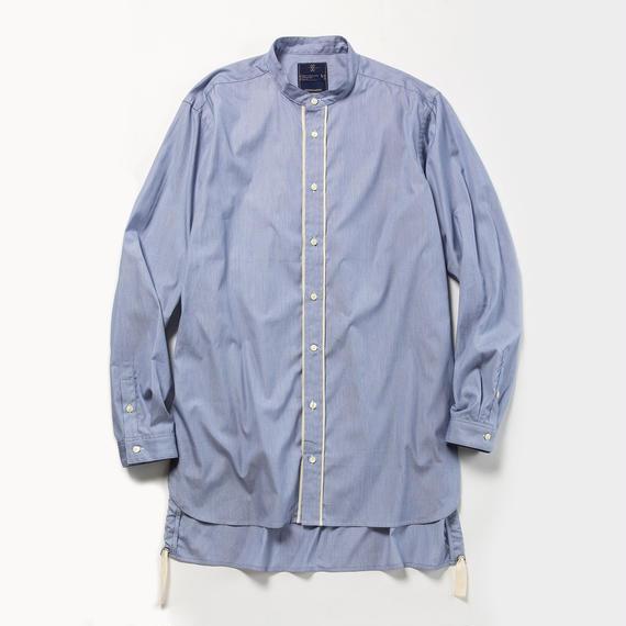 Pinstripe Long Shirt/NAVY
