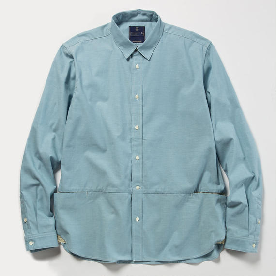 Packable Chambray Fishing SH/SAX