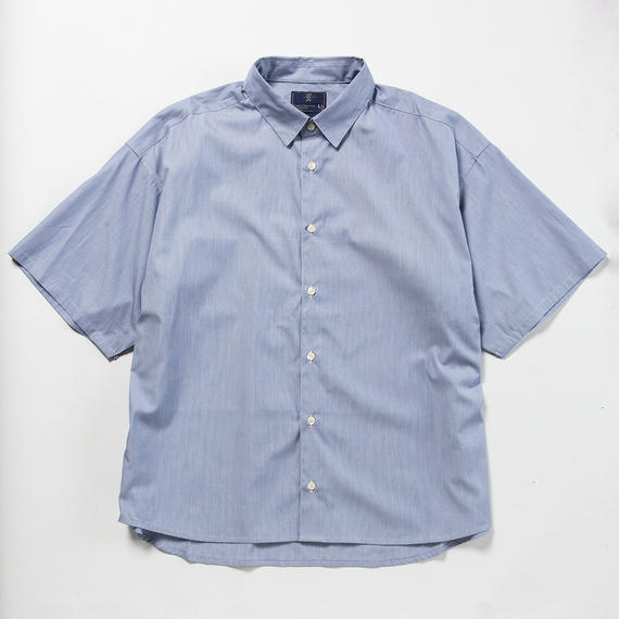 Pinstripe Popper S.S. Shirt/NAVY
