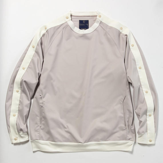 Elastic Twill Popper Sweat/ASH PINK