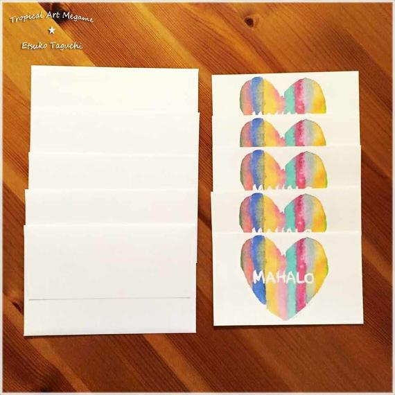 MAHALOメッセージカード5枚セット