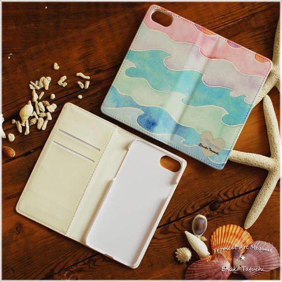 手帳型iPhoneケース nami