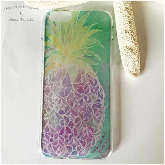 iPhone6ケース/水彩パイナップル