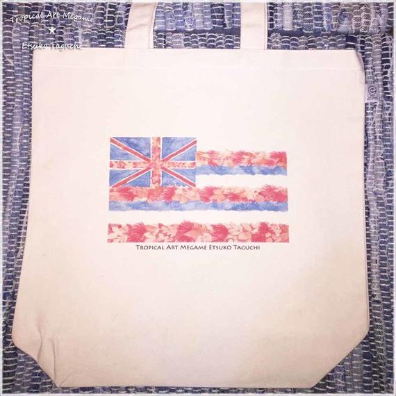 トートバック/ハワイ州旗イラスト(ホワイト)