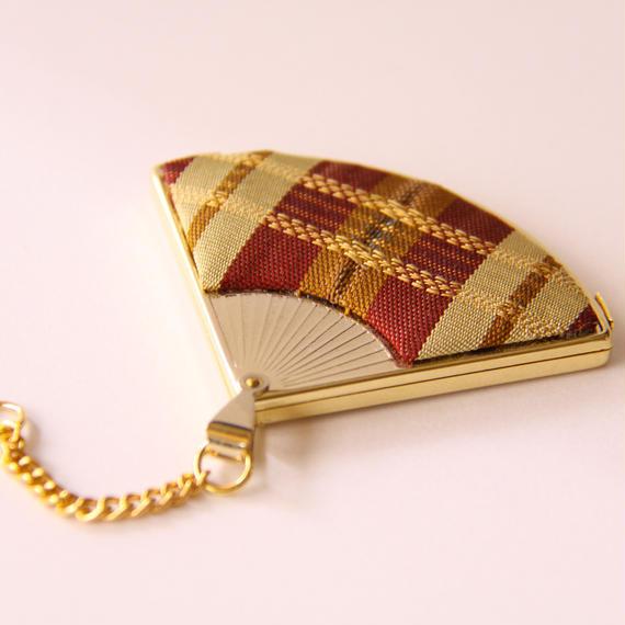 龍村美術織物 扇型ミラー