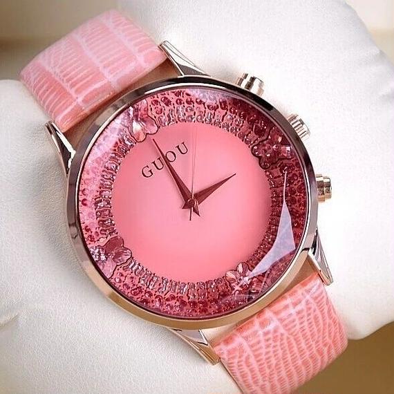GUOU luxury diamonddesign watch pink