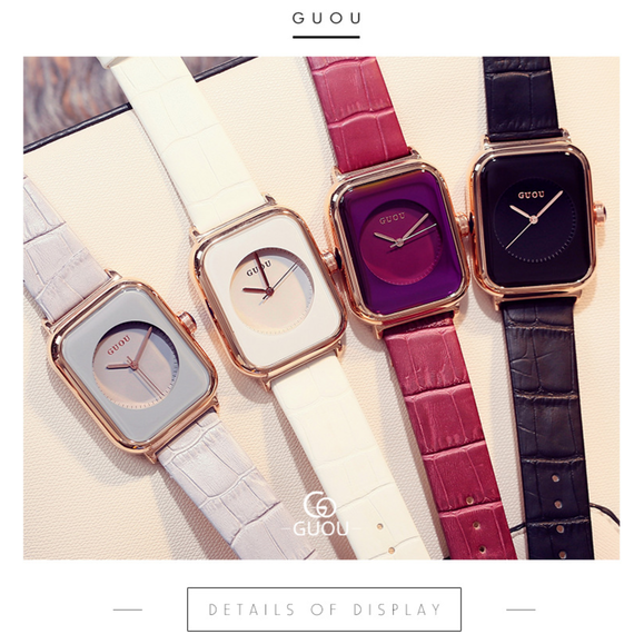 GUOU Square design watch