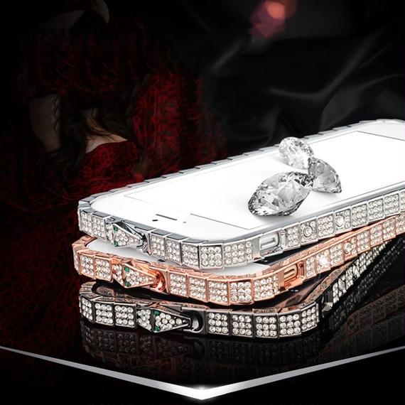 luxury Rhinestone  snake iPhone bumper