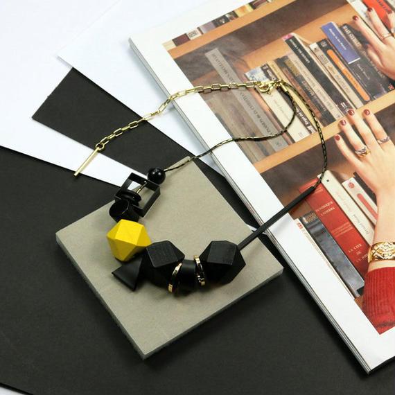 ネックレス ビッグ ウッドビーズ ネックレス 高品質 ファッション ジュエリー アクセサリー ブロック ハイクラス インポート アクセサリー ビッグビーズ