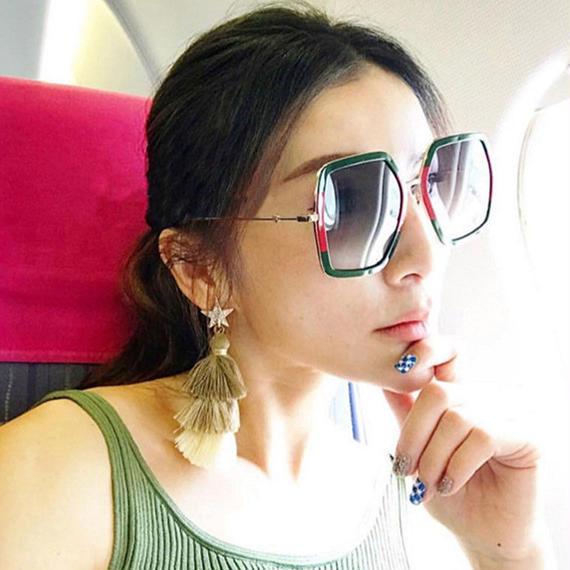 高級 サングラス ブランド デザイナー レディース 特大 クリスタル サングラス 女性 ビッグ 女性 UV400 ミラー サングラス フレーム サングラス sunglass 眼鏡 メガネ アイウェア