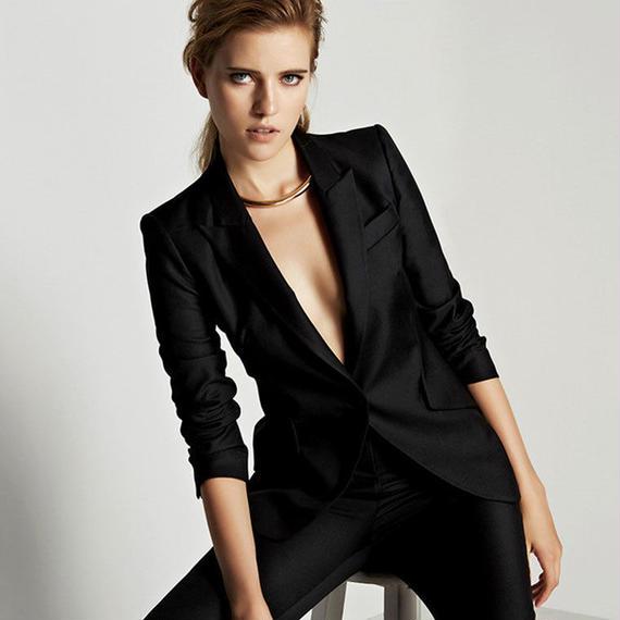 女性 イブニングパンツ カスタムメイド 女性 スーツ オフィス レディース スーツ フォーマル ビジネスワーク ウェア ジャケット パンツ キャリア セットアップ スーツ パンツ スーツ